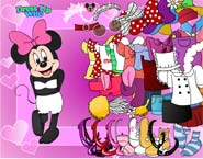 spel Minnie Mouse Aankleden